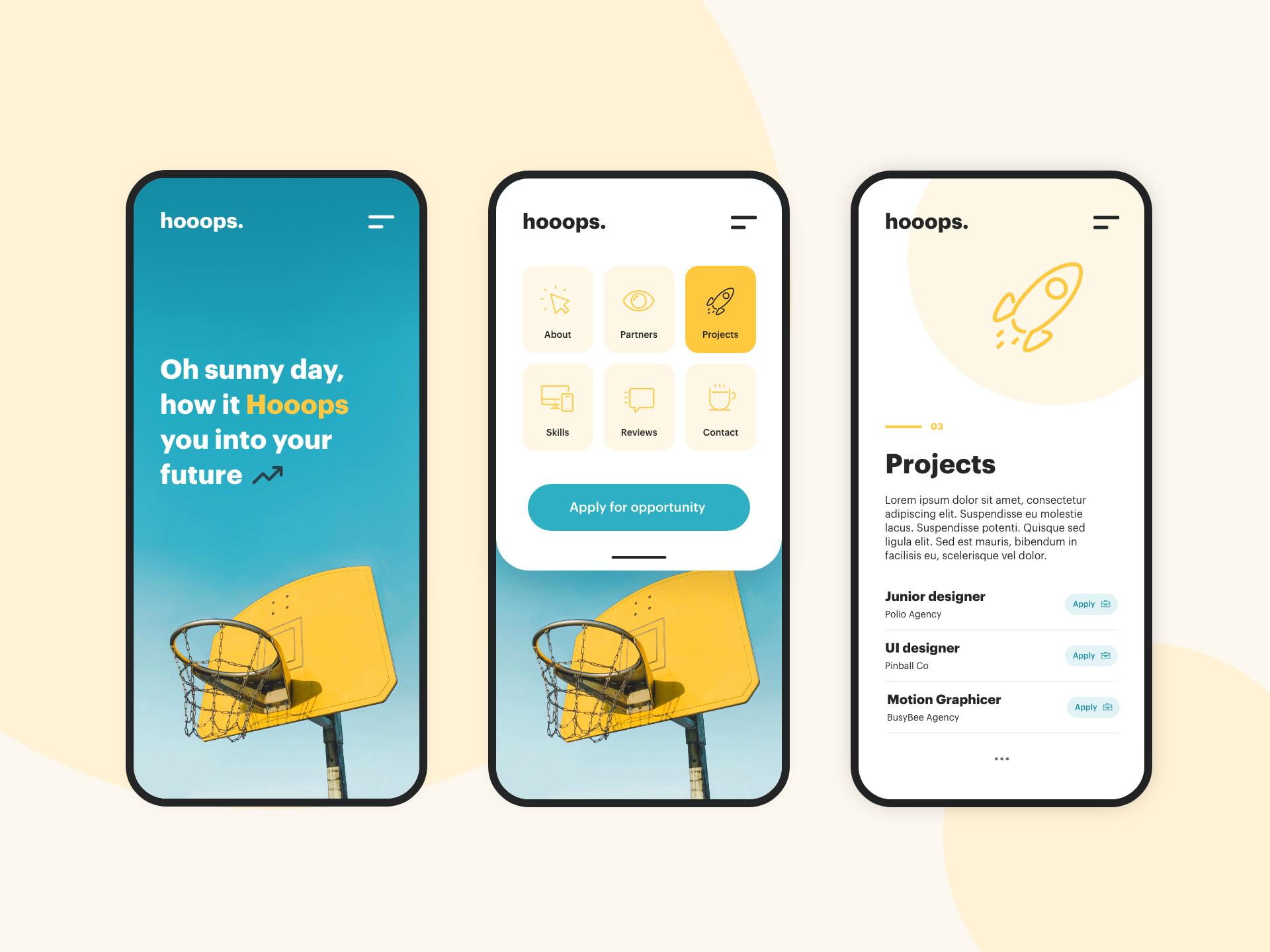 Hooops mobile concept